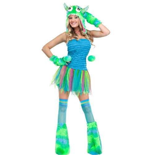 Ladies Blue Sexy Beast (Adult) Costume for Saucy Fancy Dress Womens